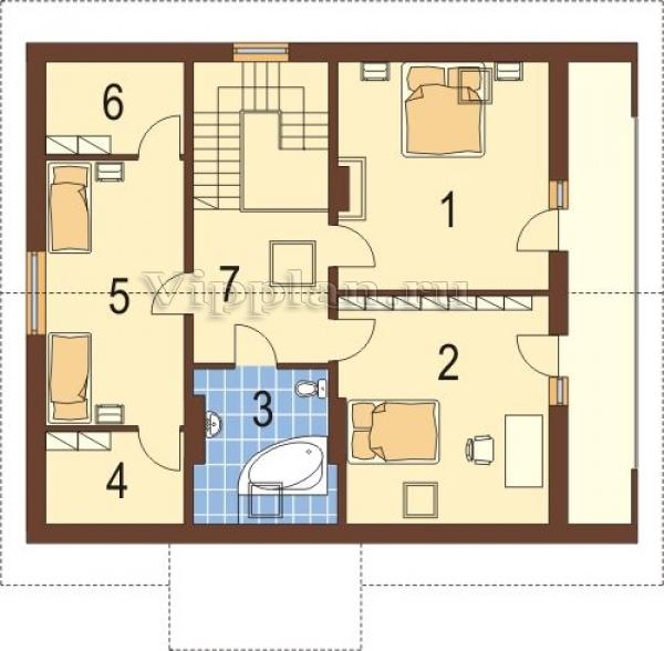 Плантровка дома по комнатам